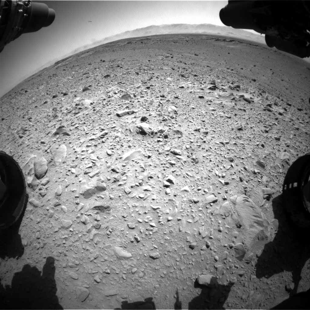 Nasa's Mars rover Curiosity acquired this image using its Front Hazard Avoidance Camera (Front Hazcam) on Sol 504, at drive 84, site number 25