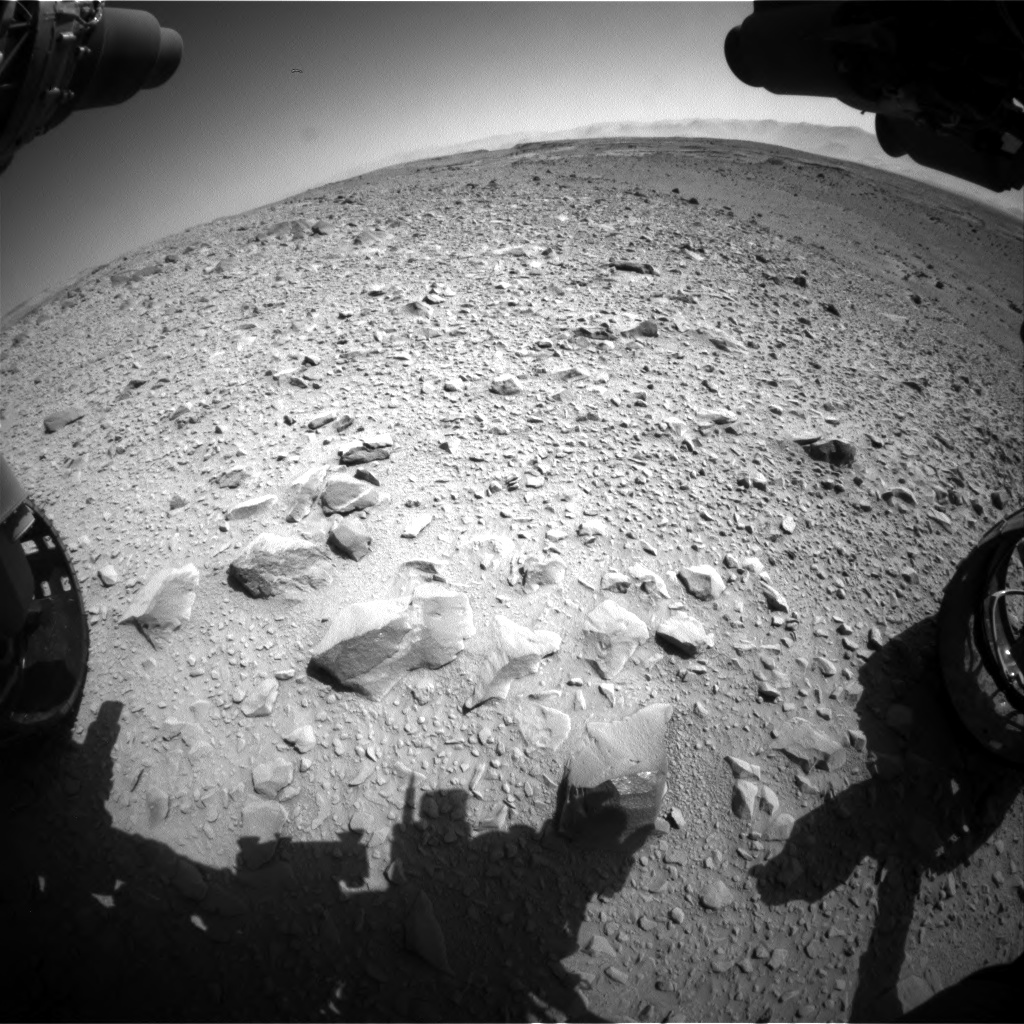 Nasa's Mars rover Curiosity acquired this image using its Front Hazard Avoidance Camera (Front Hazcam) on Sol 504, at drive 96, site number 25