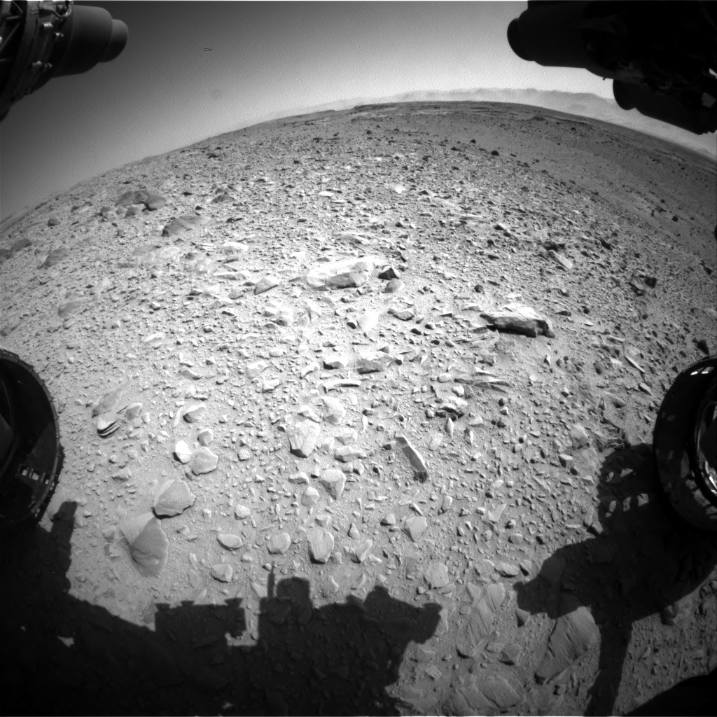NASA's Mars rover Curiosity acquired this image using its Front Hazard Avoidance Cameras (Front Hazcams) on Sol 504
