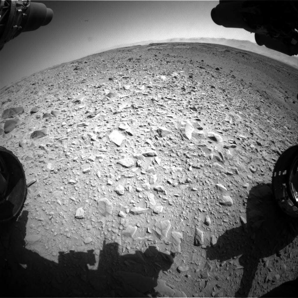 Nasa's Mars rover Curiosity acquired this image using its Front Hazard Avoidance Camera (Front Hazcam) on Sol 504, at drive 120, site number 25