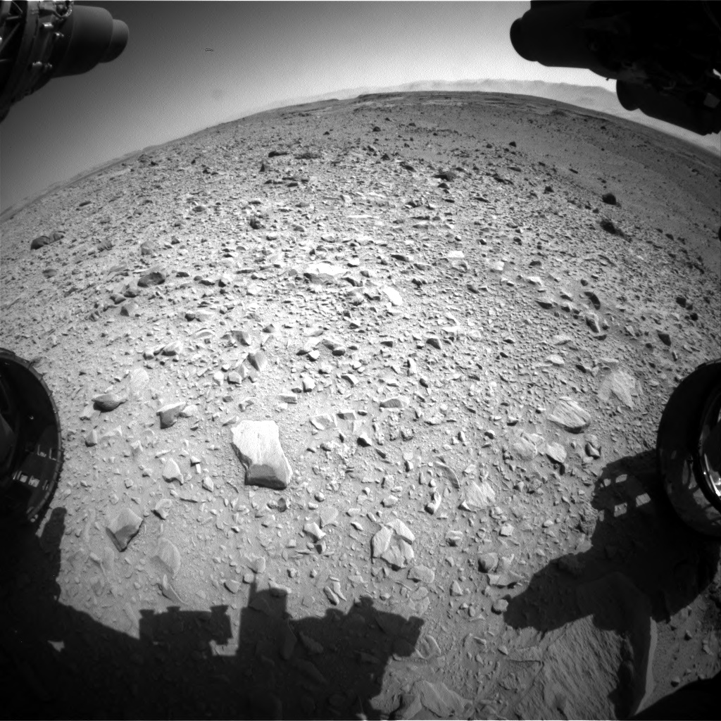 Nasa's Mars rover Curiosity acquired this image using its Front Hazard Avoidance Camera (Front Hazcam) on Sol 504, at drive 144, site number 25