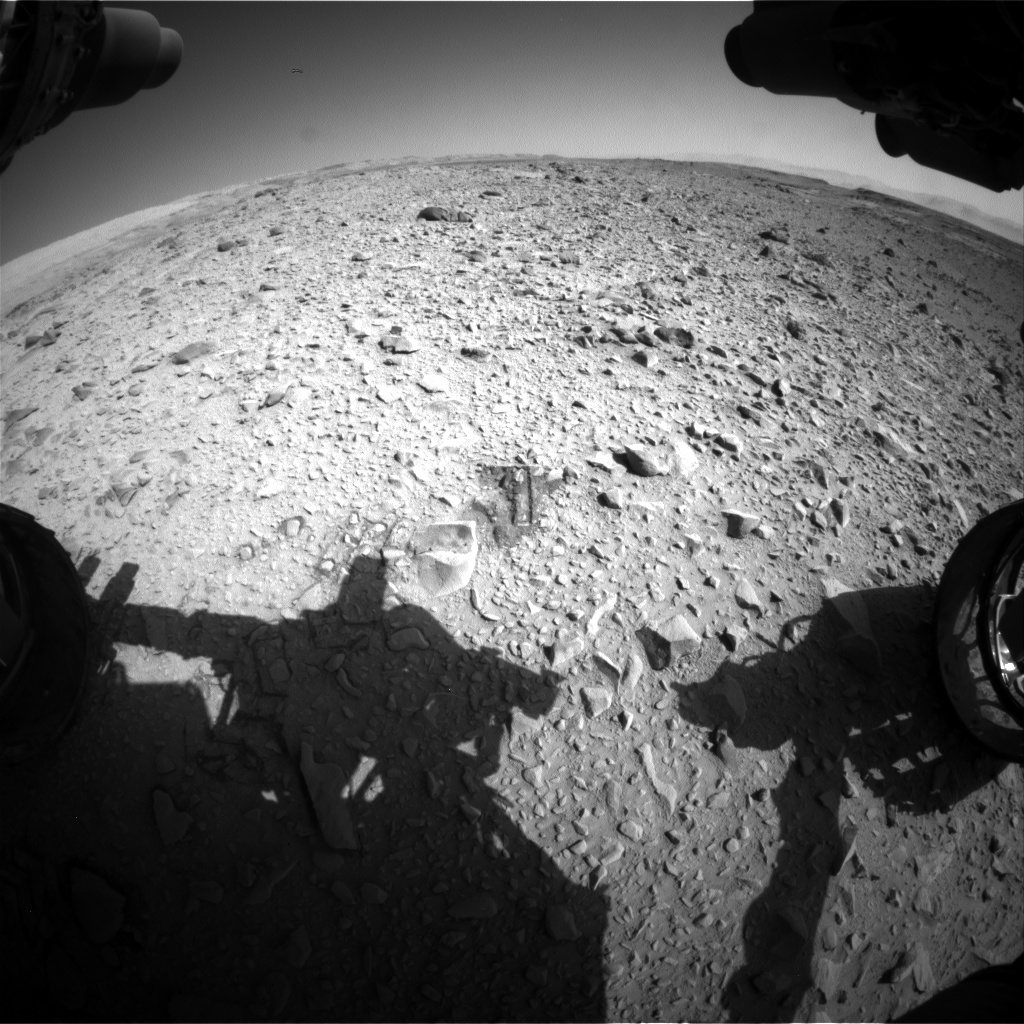 Nasa's Mars rover Curiosity acquired this image using its Front Hazard Avoidance Camera (Front Hazcam) on Sol 504, at drive 154, site number 25