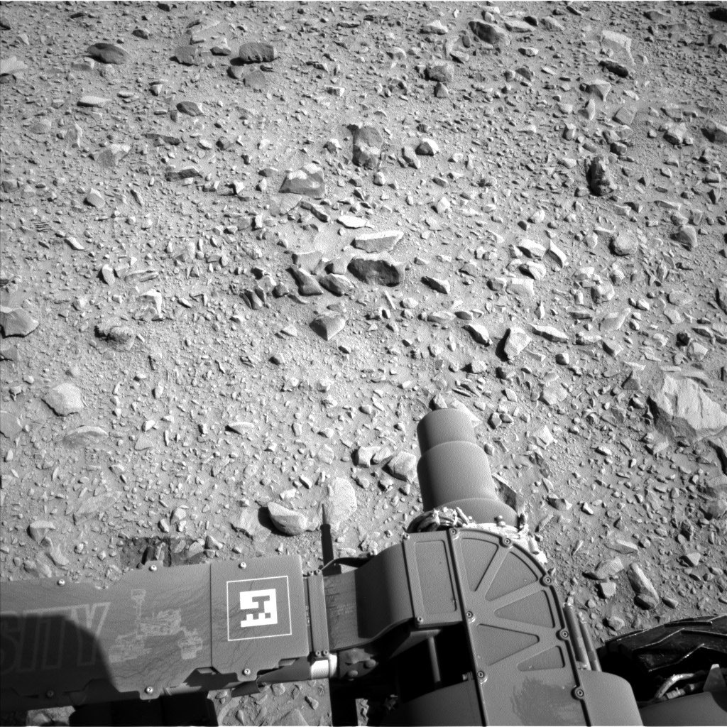 Nasa's Mars rover Curiosity acquired this image using its Left Navigation Camera on Sol 504, at drive 154, site number 25