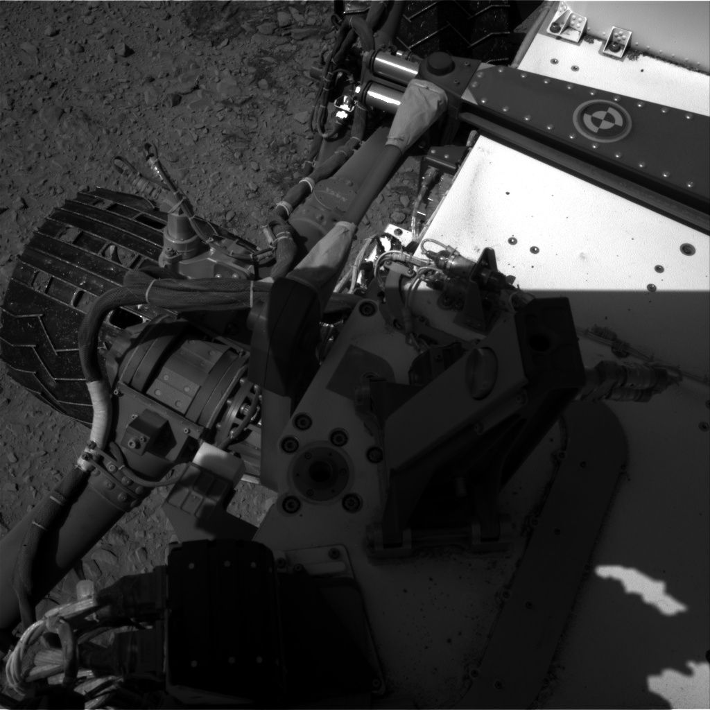 Nasa's Mars rover Curiosity acquired this image using its Right Navigation Camera on Sol 504, at drive 24, site number 25