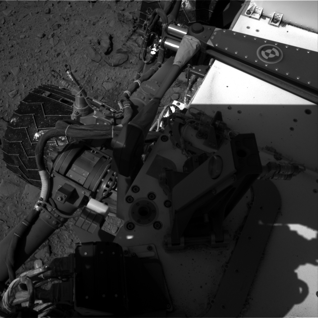 NASA's Mars rover Curiosity acquired this image using its Right Navigation Cameras (Navcams) on Sol 504