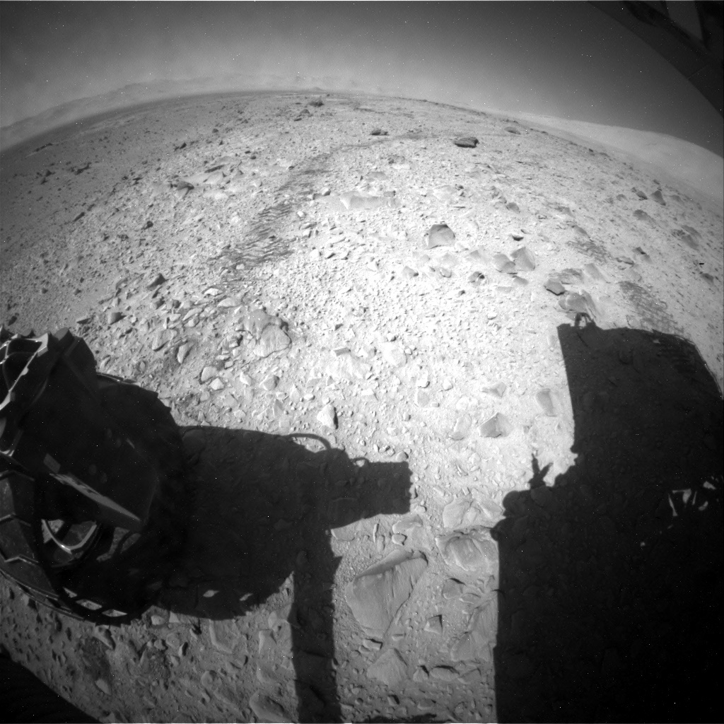 NASA's Mars rover Curiosity acquired this image using its Rear Hazard Avoidance Cameras (Rear Hazcams) on Sol 504