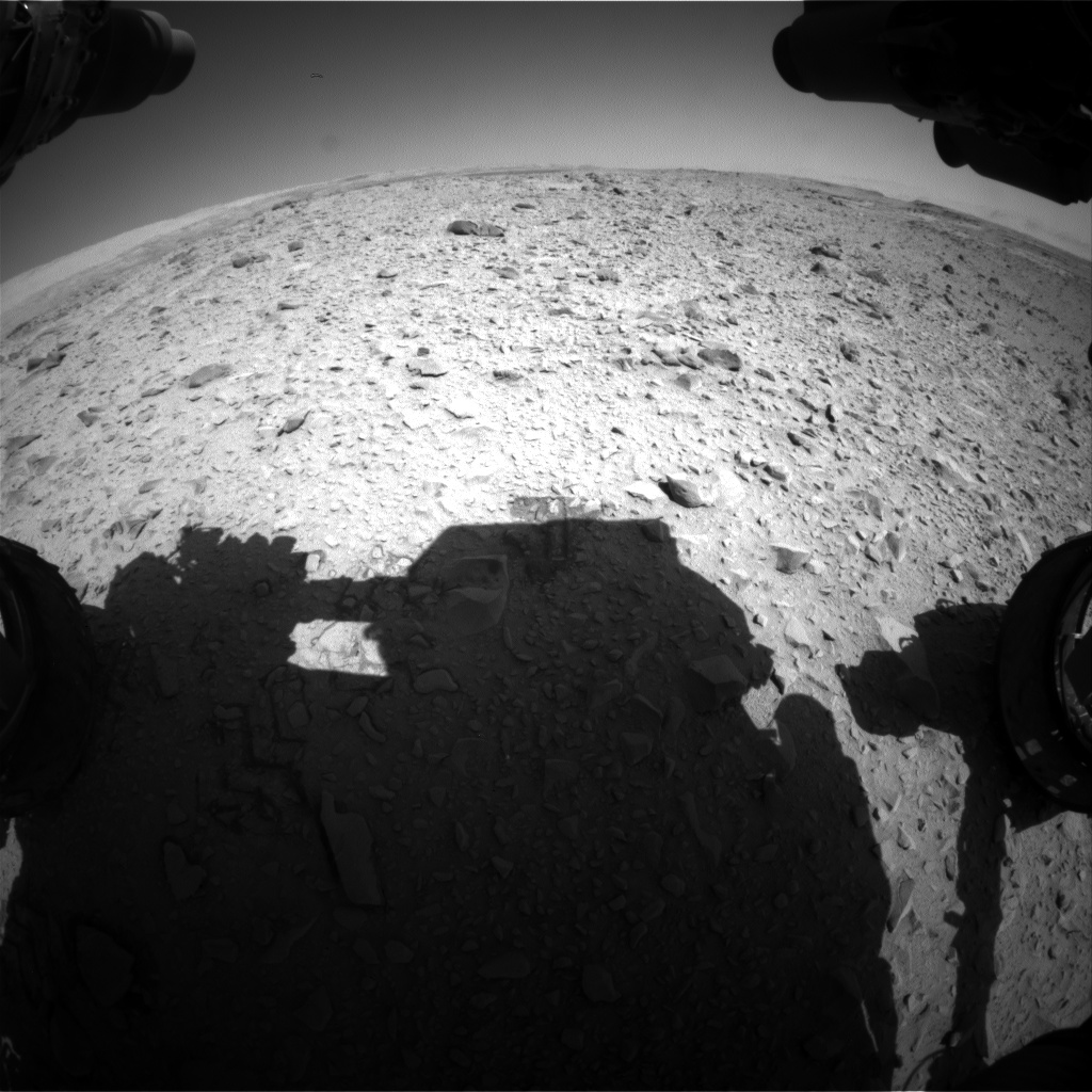 Nasa's Mars rover Curiosity acquired this image using its Front Hazard Avoidance Camera (Front Hazcam) on Sol 505, at drive 154, site number 25