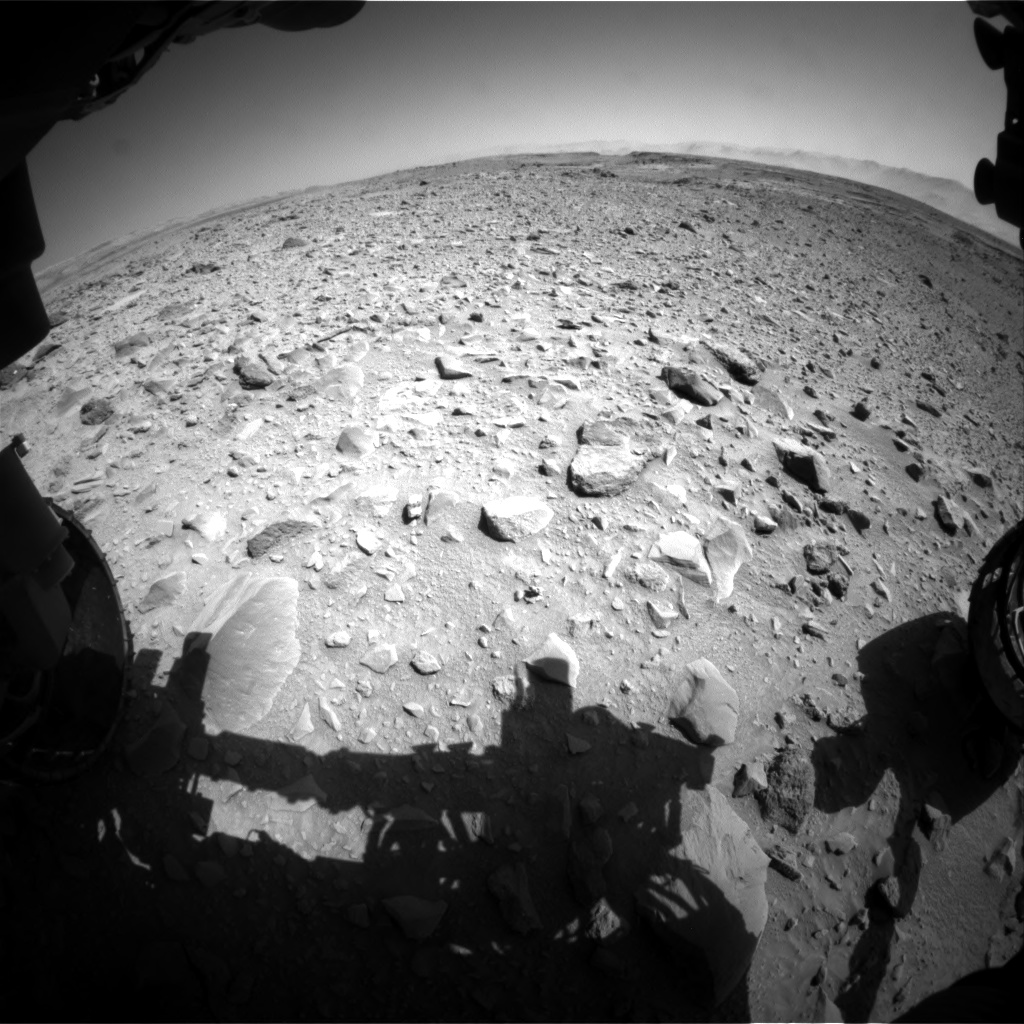 Nasa's Mars rover Curiosity acquired this image using its Front Hazard Avoidance Camera (Front Hazcam) on Sol 506, at drive 196, site number 25