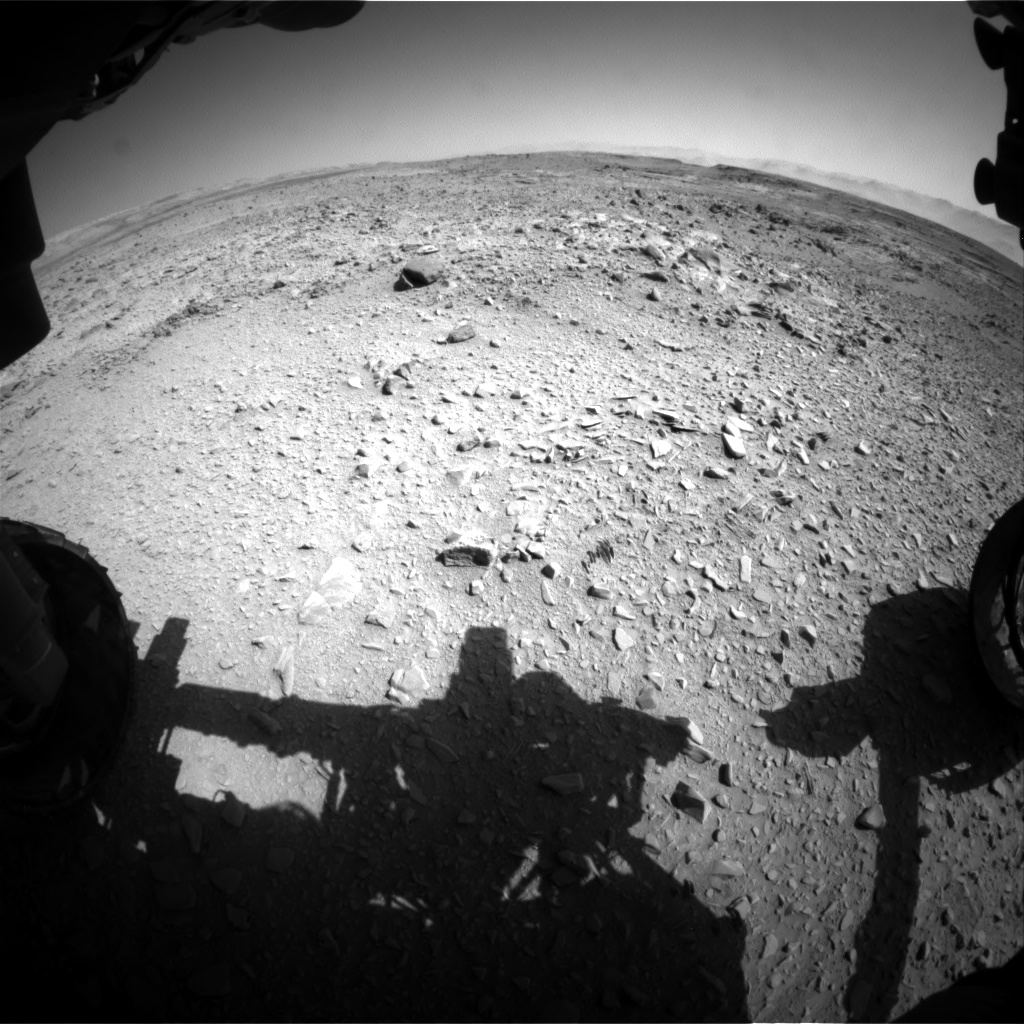 Nasa's Mars rover Curiosity acquired this image using its Front Hazard Avoidance Camera (Front Hazcam) on Sol 506, at drive 226, site number 25