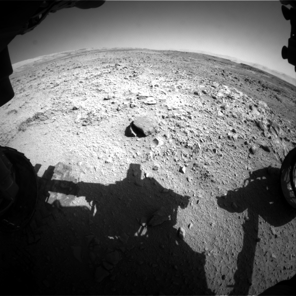 Nasa's Mars rover Curiosity acquired this image using its Front Hazard Avoidance Camera (Front Hazcam) on Sol 506, at drive 242, site number 25