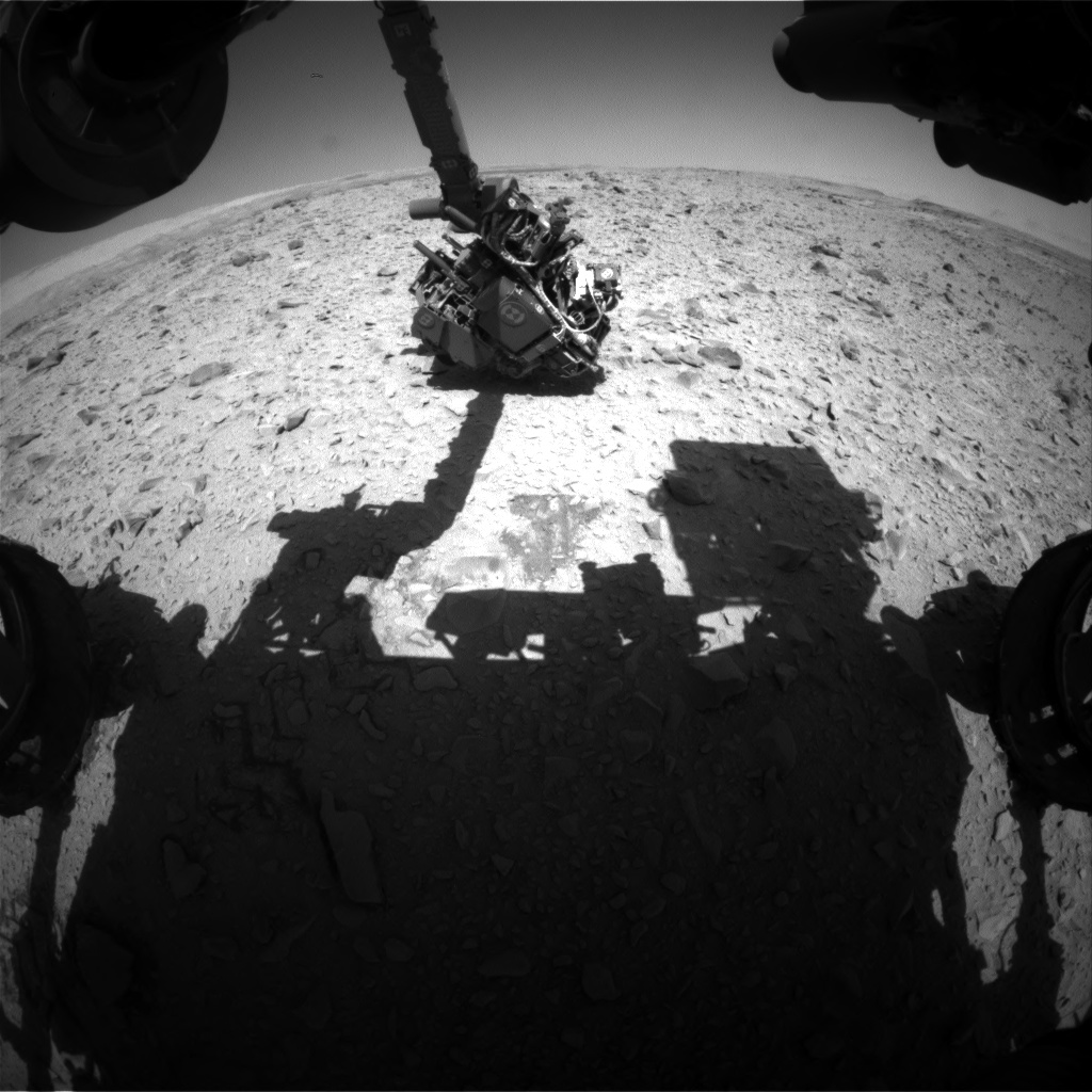 Nasa's Mars rover Curiosity acquired this image using its Front Hazard Avoidance Camera (Front Hazcam) on Sol 506, at drive 154, site number 25