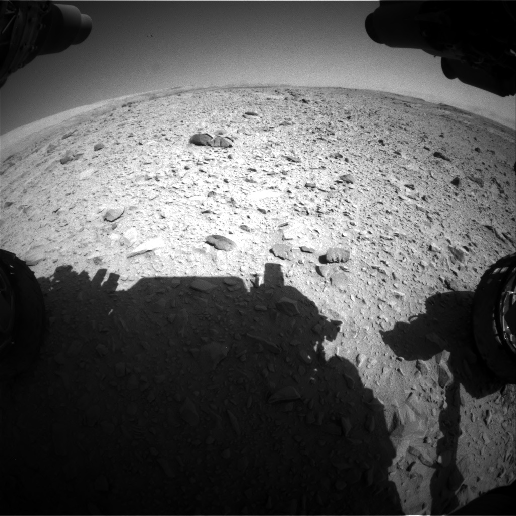 Nasa's Mars rover Curiosity acquired this image using its Front Hazard Avoidance Camera (Front Hazcam) on Sol 506, at drive 160, site number 25