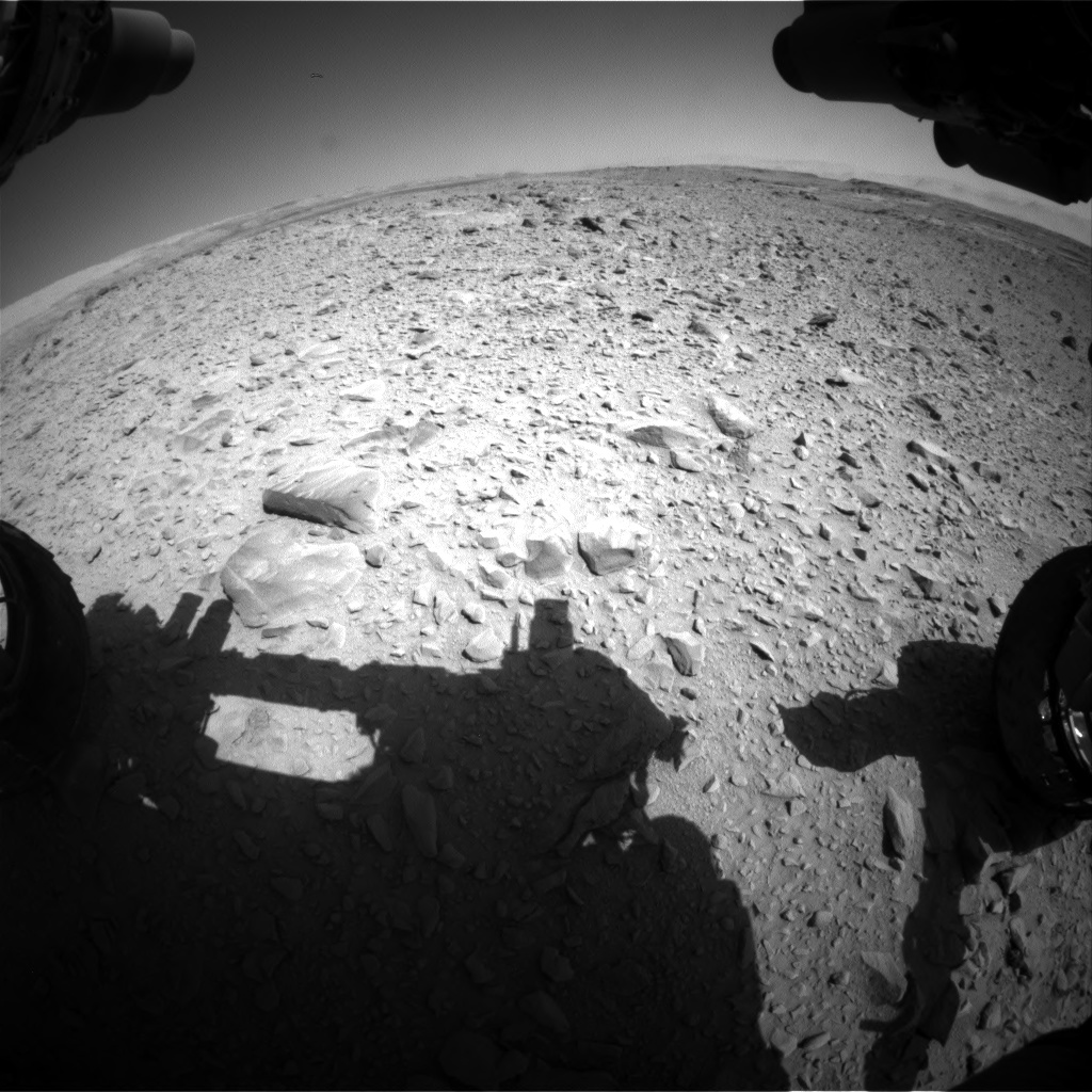 Nasa's Mars rover Curiosity acquired this image using its Front Hazard Avoidance Camera (Front Hazcam) on Sol 506, at drive 172, site number 25