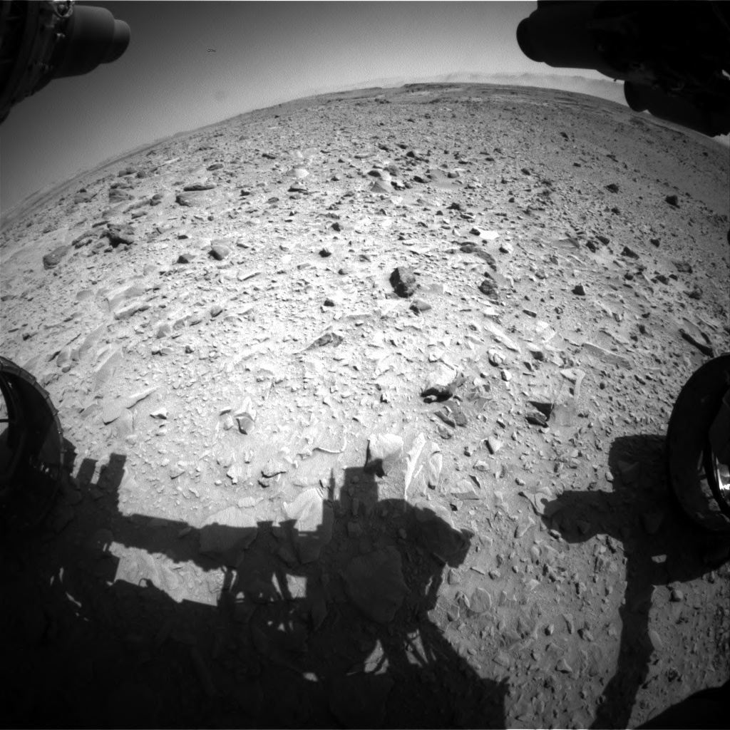 Nasa's Mars rover Curiosity acquired this image using its Front Hazard Avoidance Camera (Front Hazcam) on Sol 506, at drive 184, site number 25