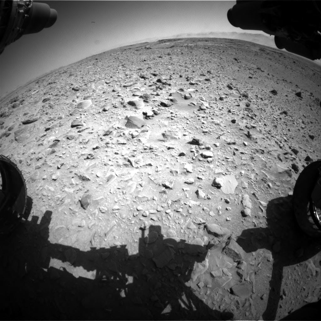 Nasa's Mars rover Curiosity acquired this image using its Front Hazard Avoidance Camera (Front Hazcam) on Sol 506, at drive 190, site number 25