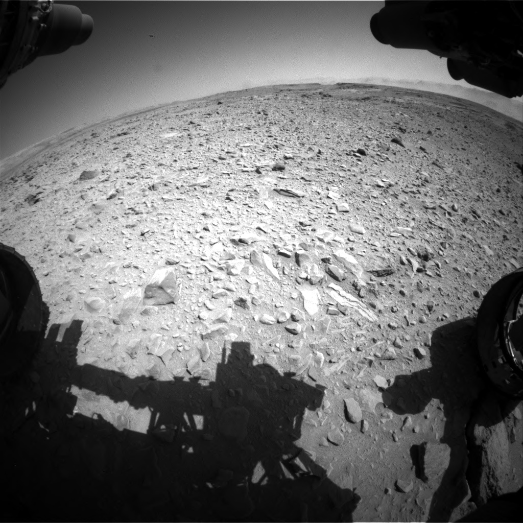 Nasa's Mars rover Curiosity acquired this image using its Front Hazard Avoidance Camera (Front Hazcam) on Sol 506, at drive 202, site number 25