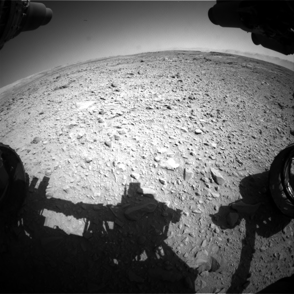 Nasa's Mars rover Curiosity acquired this image using its Front Hazard Avoidance Camera (Front Hazcam) on Sol 506, at drive 208, site number 25