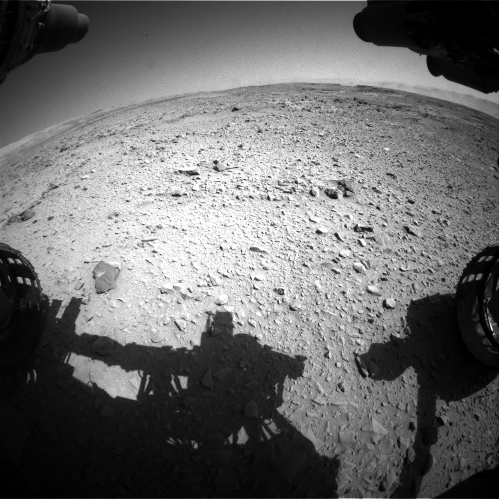 NASA's Mars rover Curiosity acquired this image using its Front Hazard Avoidance Cameras (Front Hazcams) on Sol 506