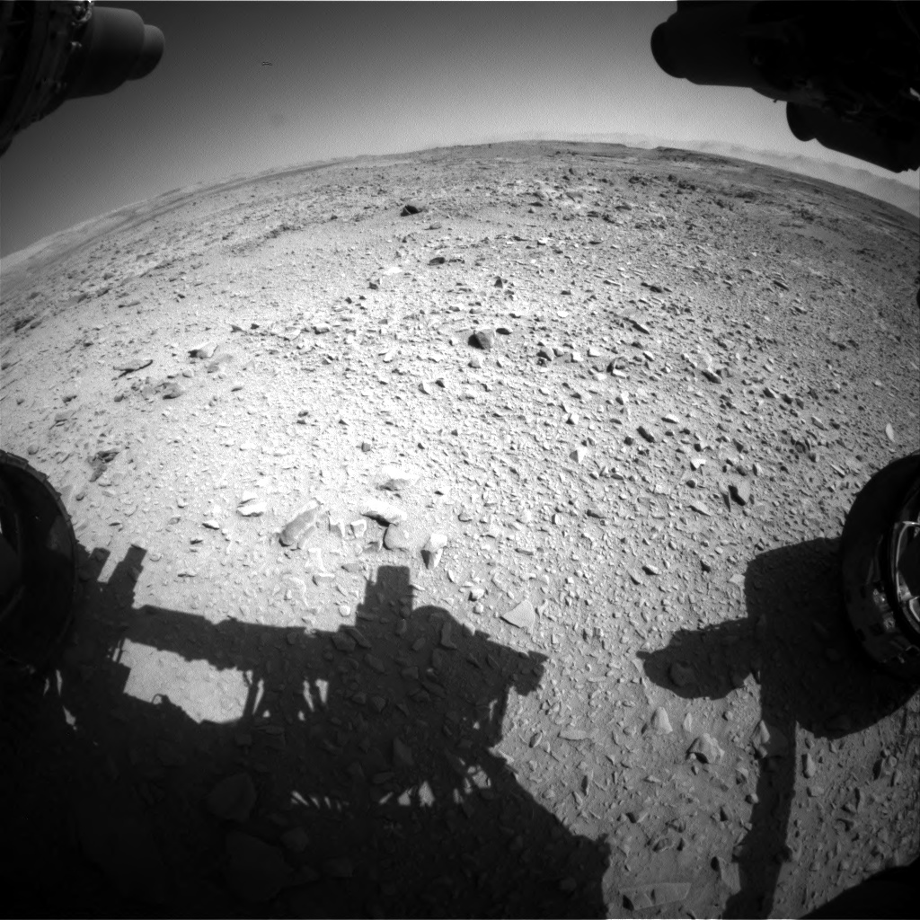 Nasa's Mars rover Curiosity acquired this image using its Front Hazard Avoidance Camera (Front Hazcam) on Sol 506, at drive 220, site number 25