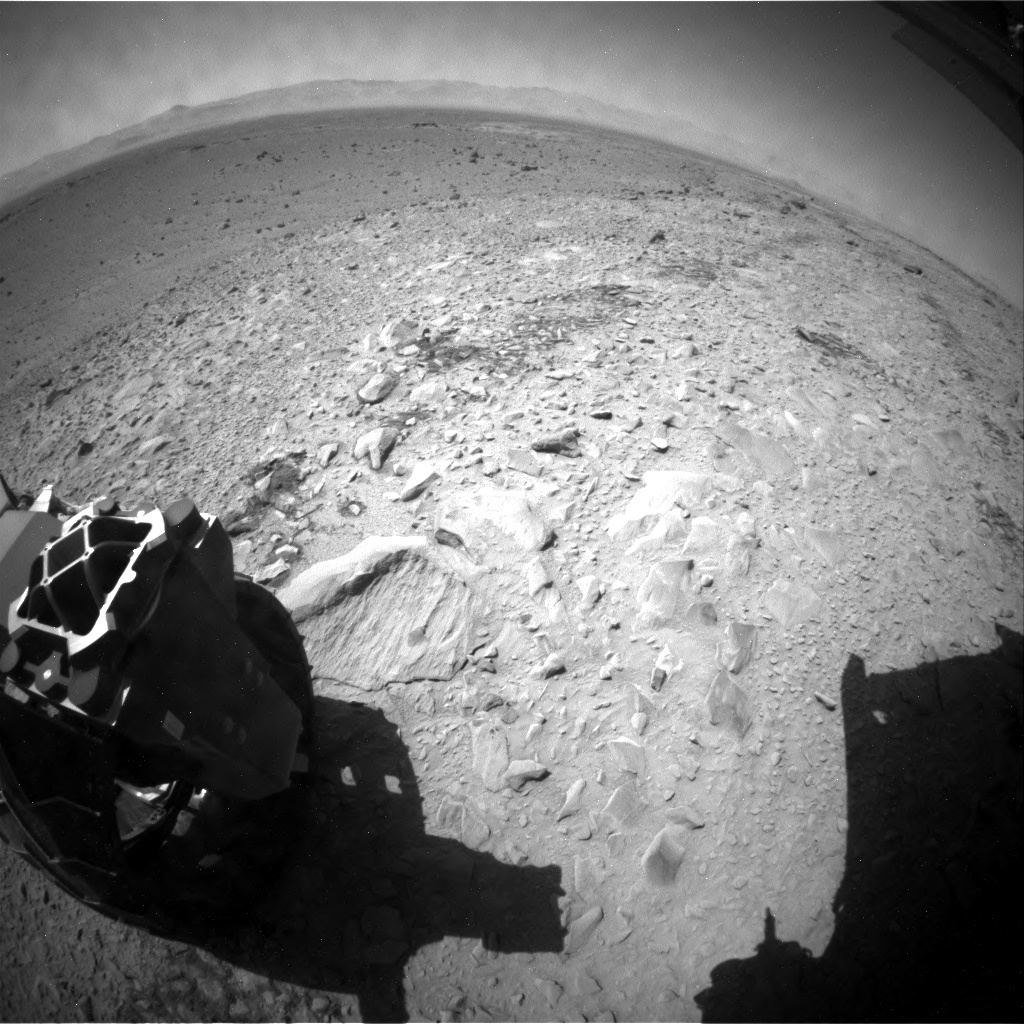 NASA's Mars rover Curiosity acquired this image using its Rear Hazard Avoidance Cameras (Rear Hazcams) on Sol 506