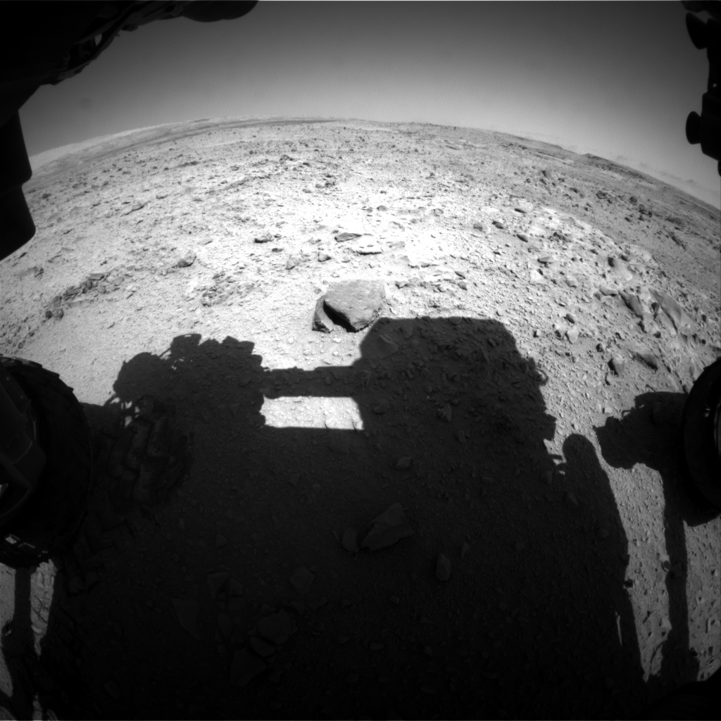 Nasa's Mars rover Curiosity acquired this image using its Front Hazard Avoidance Camera (Front Hazcam) on Sol 507, at drive 242, site number 25