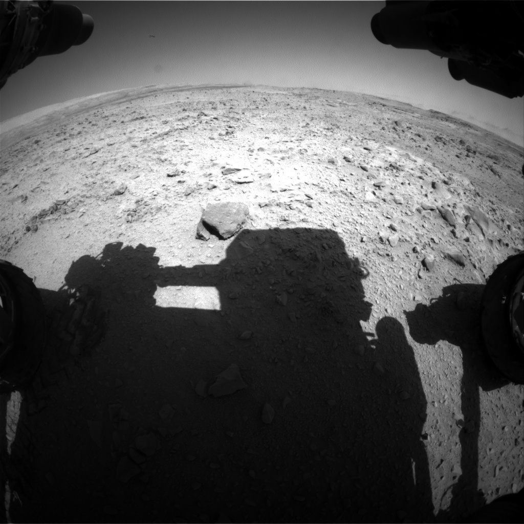 NASA's Mars rover Curiosity acquired this image using its Front Hazard Avoidance Cameras (Front Hazcams) on Sol 507