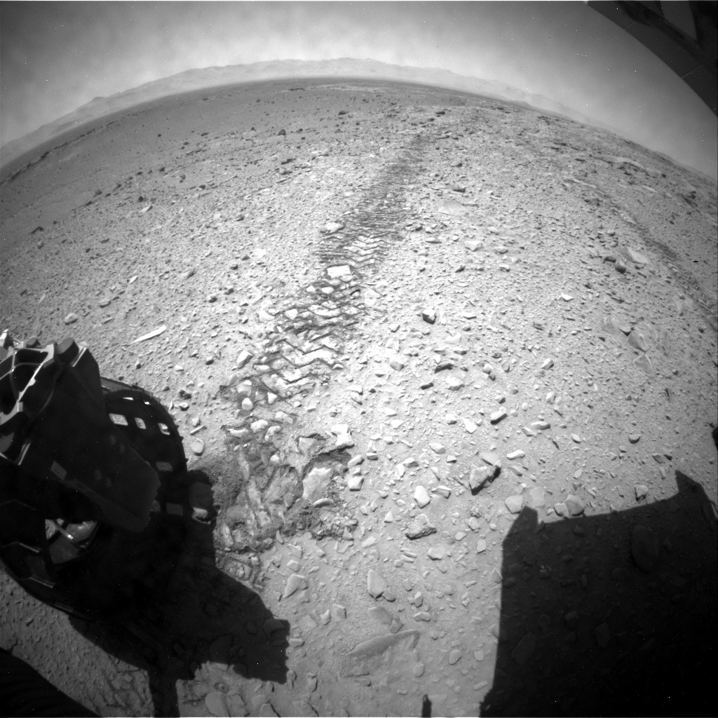 NASA's Mars rover Curiosity acquired this image using its Rear Hazard Avoidance Cameras (Rear Hazcams) on Sol 507