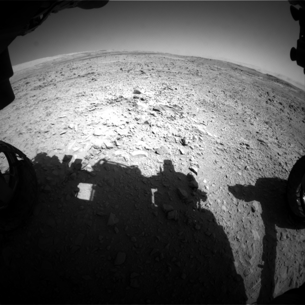 Nasa's Mars rover Curiosity acquired this image using its Front Hazard Avoidance Camera (Front Hazcam) on Sol 508, at drive 260, site number 25