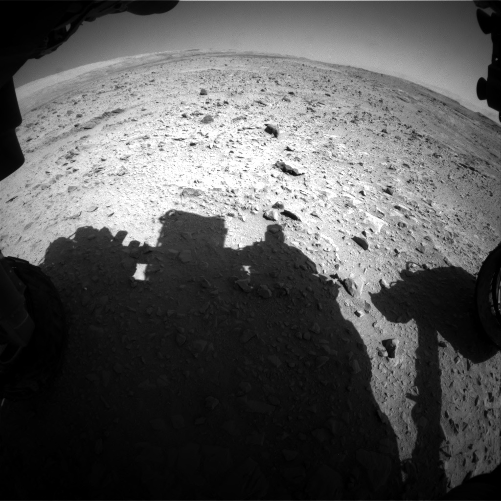 NASA's Mars rover Curiosity acquired this image using its Front Hazard Avoidance Cameras (Front Hazcams) on Sol 508
