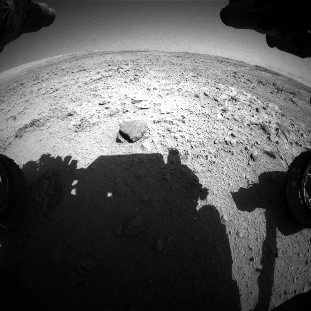 Nasa's Mars rover Curiosity acquired this image using its Front Hazard Avoidance Camera (Front Hazcam) on Sol 508, at drive 242, site number 25