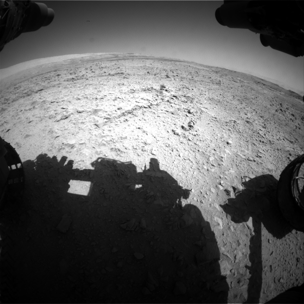 Nasa's Mars rover Curiosity acquired this image using its Front Hazard Avoidance Camera (Front Hazcam) on Sol 508, at drive 254, site number 25