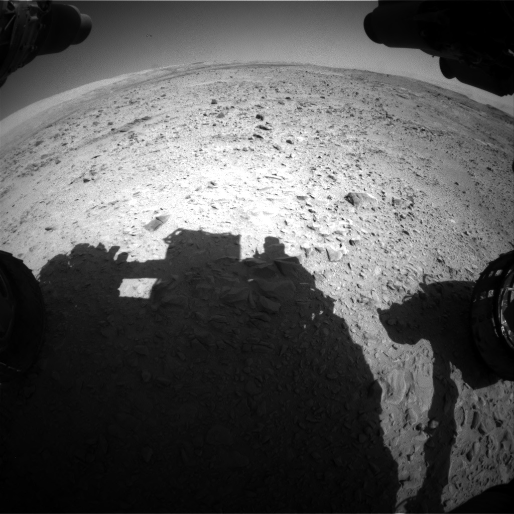 Nasa's Mars rover Curiosity acquired this image using its Front Hazard Avoidance Camera (Front Hazcam) on Sol 508, at drive 284, site number 25