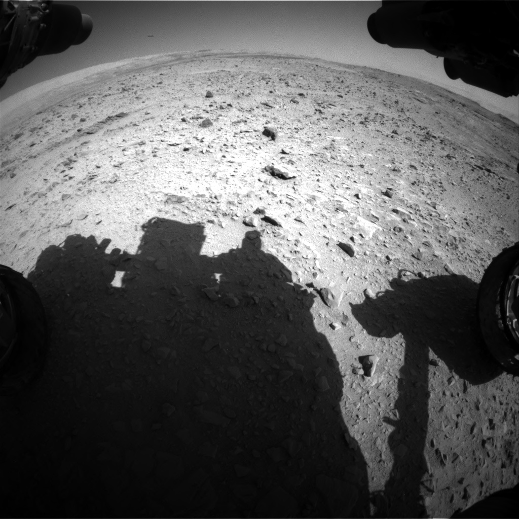 Nasa's Mars rover Curiosity acquired this image using its Front Hazard Avoidance Camera (Front Hazcam) on Sol 508, at drive 296, site number 25