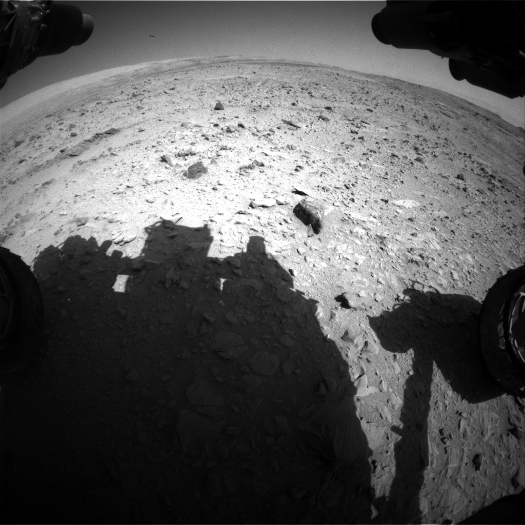 Nasa's Mars rover Curiosity acquired this image using its Front Hazard Avoidance Camera (Front Hazcam) on Sol 508, at drive 312, site number 25