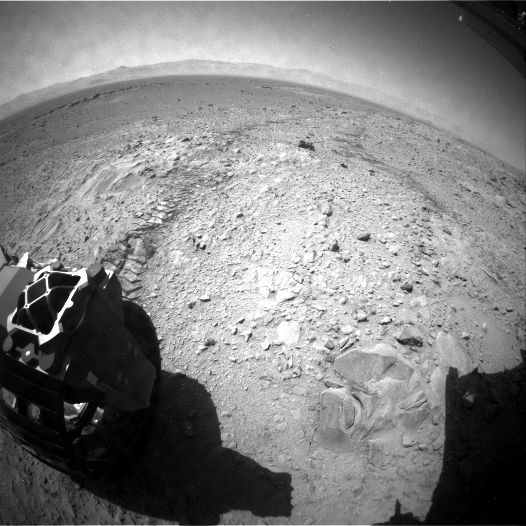 NASA's Mars rover Curiosity acquired this image using its Rear Hazard Avoidance Cameras (Rear Hazcams) on Sol 508