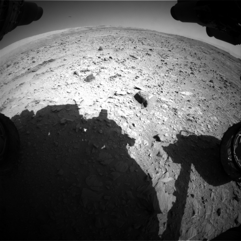 NASA's Mars rover Curiosity acquired this image using its Front Hazard Avoidance Cameras (Front Hazcams) on Sol 509