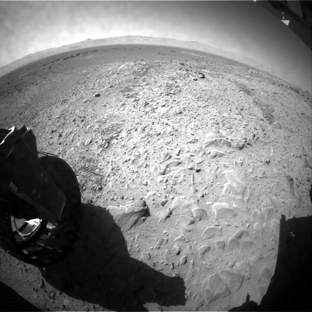 NASA's Mars rover Curiosity acquired this image using its Rear Hazard Avoidance Cameras (Rear Hazcams) on Sol 509