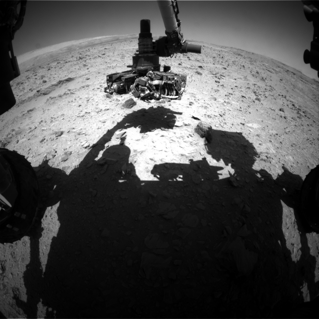 NASA's Mars rover Curiosity acquired this image using its Front Hazard Avoidance Cameras (Front Hazcams) on Sol 510