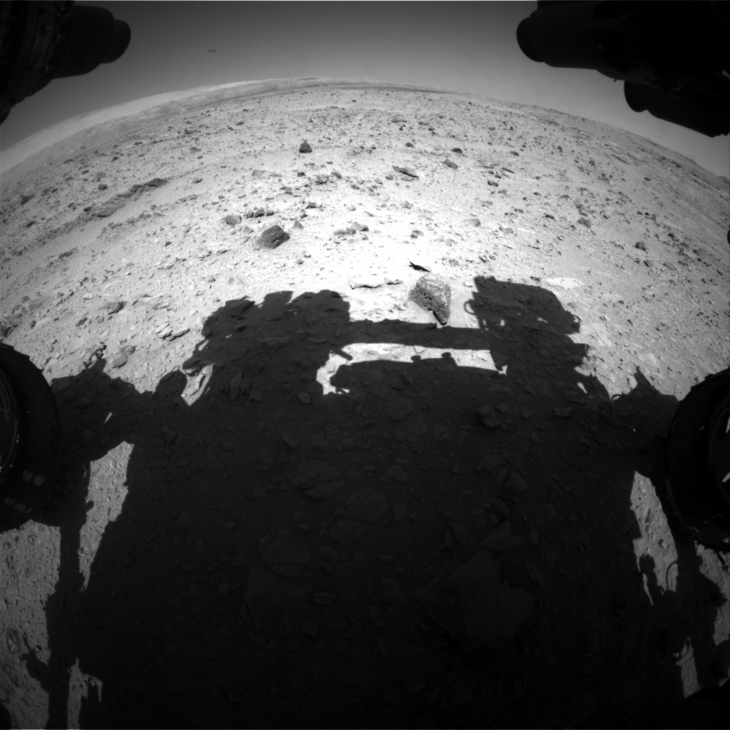 Nasa's Mars rover Curiosity acquired this image using its Front Hazard Avoidance Camera (Front Hazcam) on Sol 510, at drive 312, site number 25
