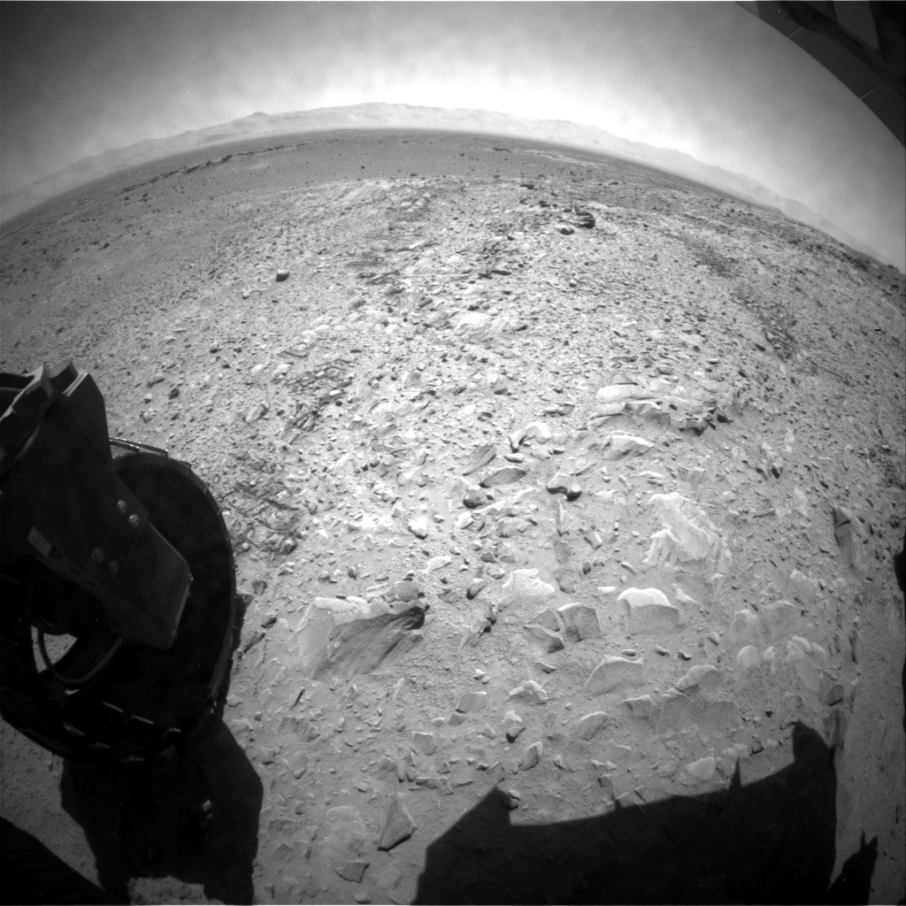 NASA's Mars rover Curiosity acquired this image using its Rear Hazard Avoidance Cameras (Rear Hazcams) on Sol 510