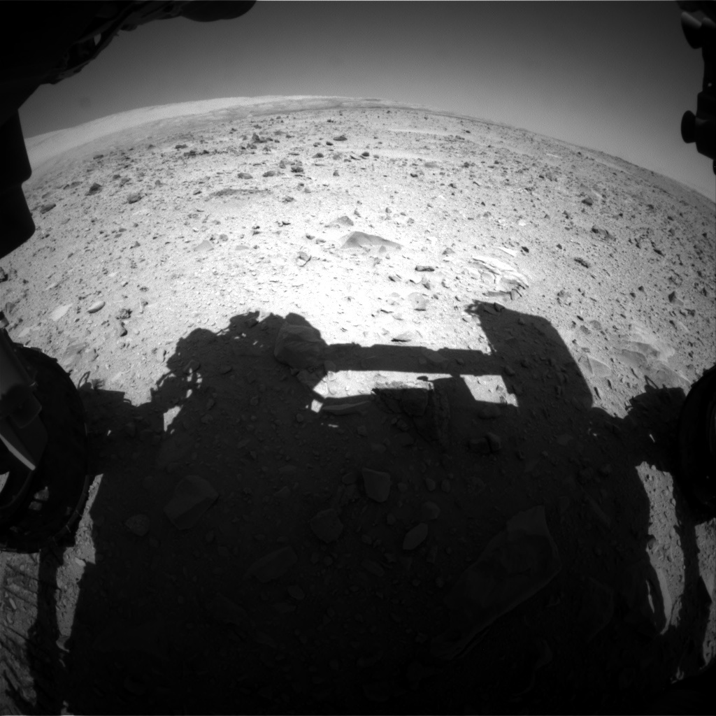 NASA's Mars rover Curiosity acquired this image using its Front Hazard Avoidance Cameras (Front Hazcams) on Sol 511