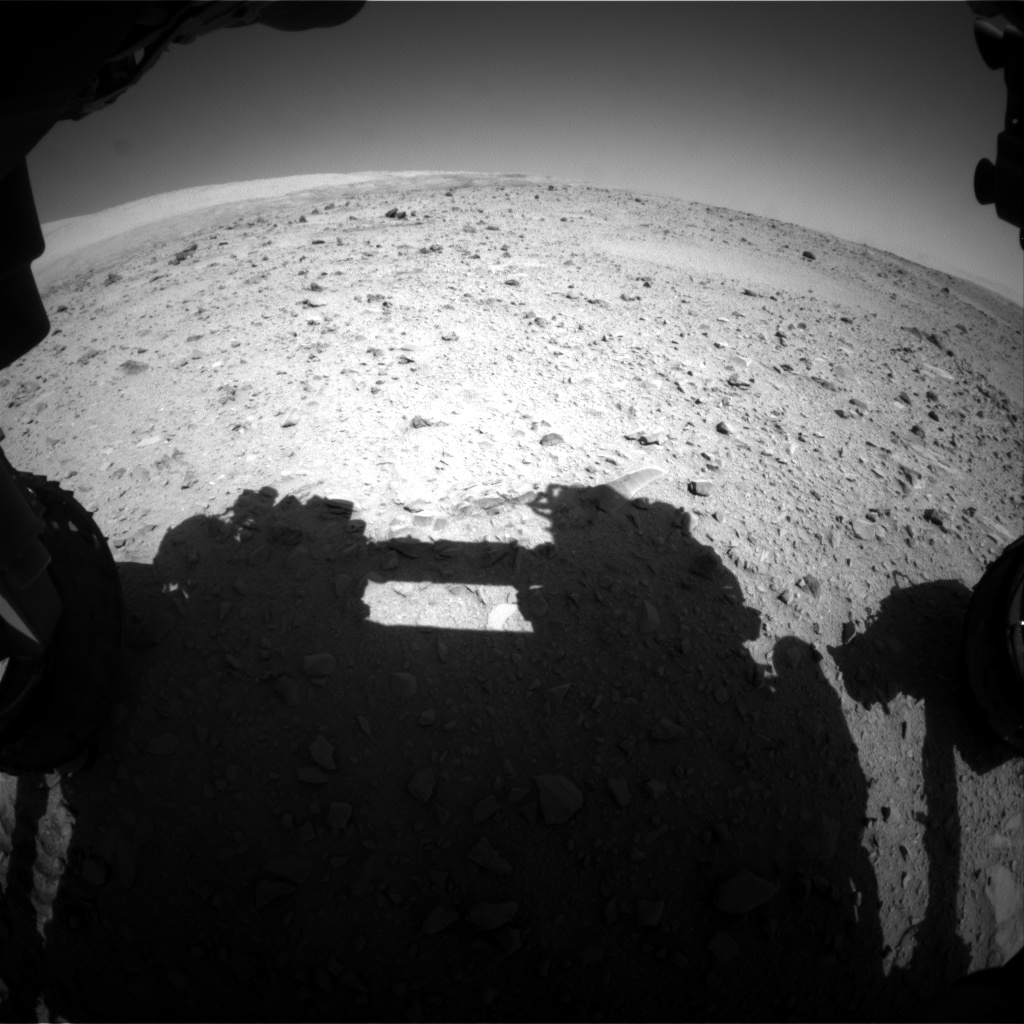 Nasa's Mars rover Curiosity acquired this image using its Front Hazard Avoidance Camera (Front Hazcam) on Sol 511, at drive 498, site number 25