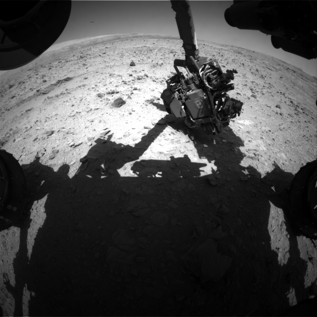 Nasa's Mars rover Curiosity acquired this image using its Front Hazard Avoidance Camera (Front Hazcam) on Sol 511, at drive 312, site number 25