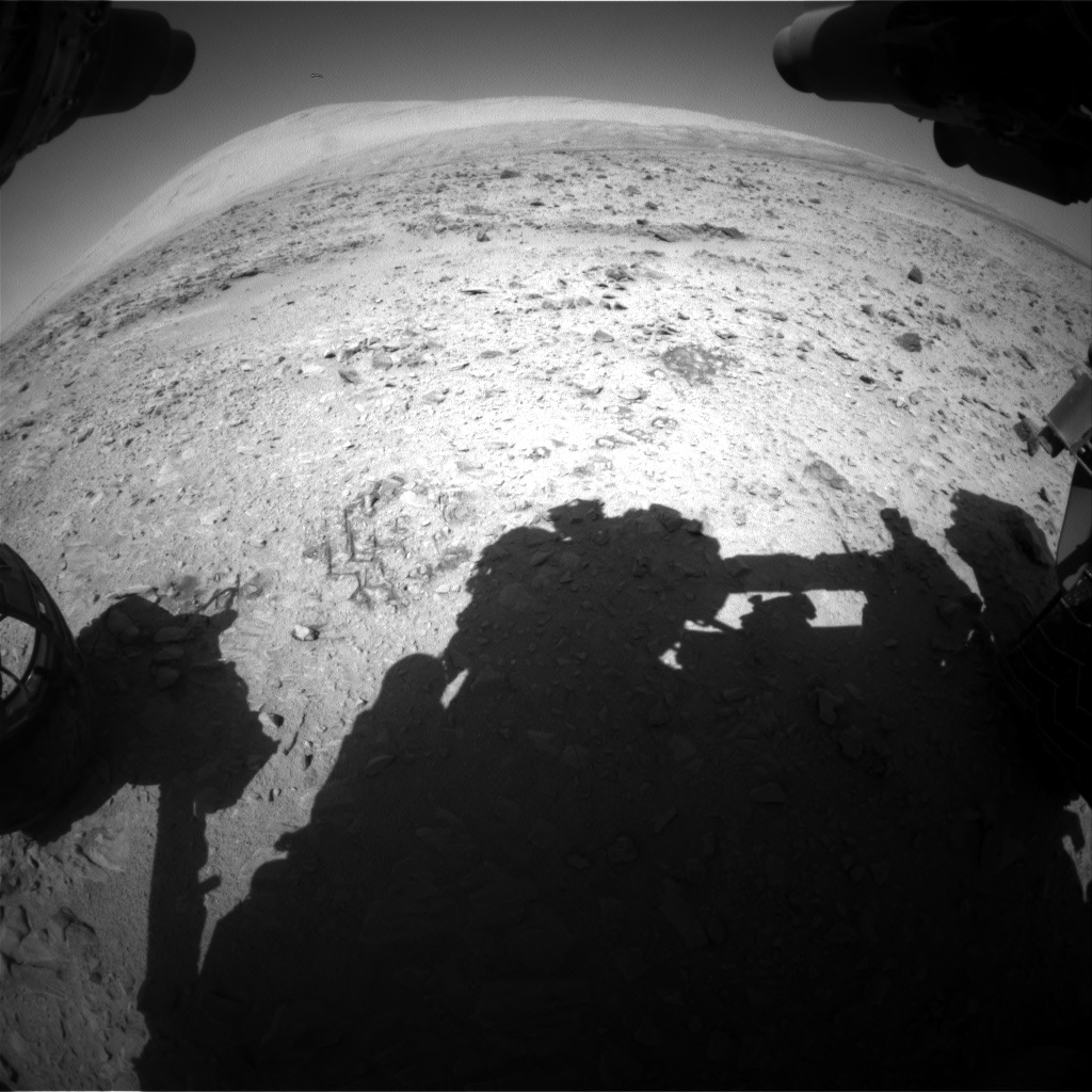 Nasa's Mars rover Curiosity acquired this image using its Front Hazard Avoidance Camera (Front Hazcam) on Sol 511, at drive 336, site number 25