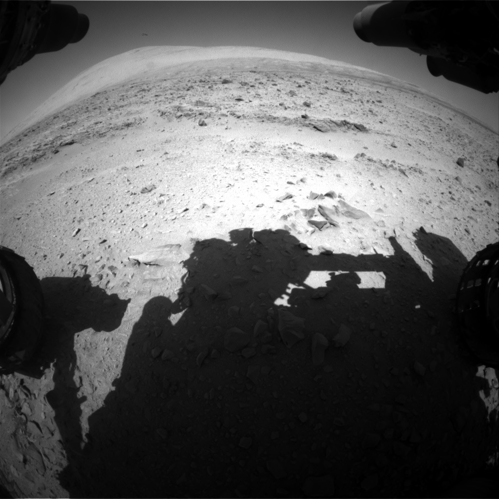 Nasa's Mars rover Curiosity acquired this image using its Front Hazard Avoidance Camera (Front Hazcam) on Sol 511, at drive 348, site number 25