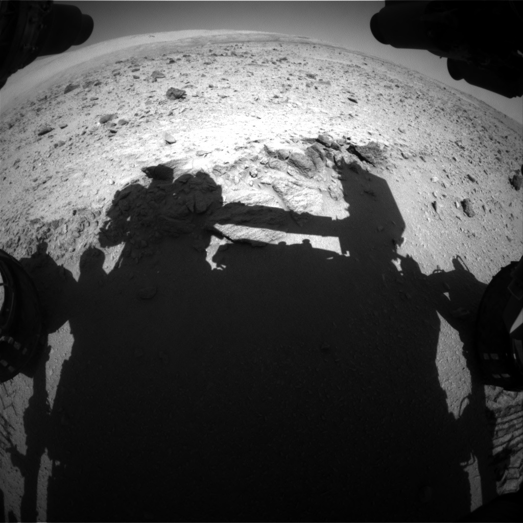 Nasa's Mars rover Curiosity acquired this image using its Front Hazard Avoidance Camera (Front Hazcam) on Sol 511, at drive 372, site number 25