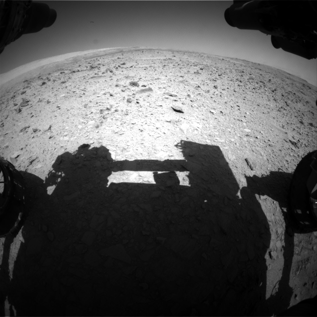 Nasa's Mars rover Curiosity acquired this image using its Front Hazard Avoidance Camera (Front Hazcam) on Sol 511, at drive 384, site number 25