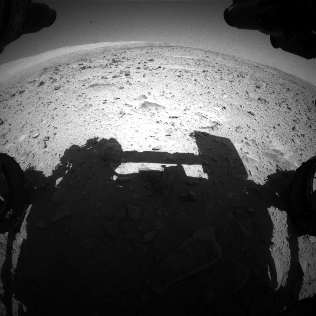 Nasa's Mars rover Curiosity acquired this image using its Front Hazard Avoidance Camera (Front Hazcam) on Sol 511, at drive 402, site number 25