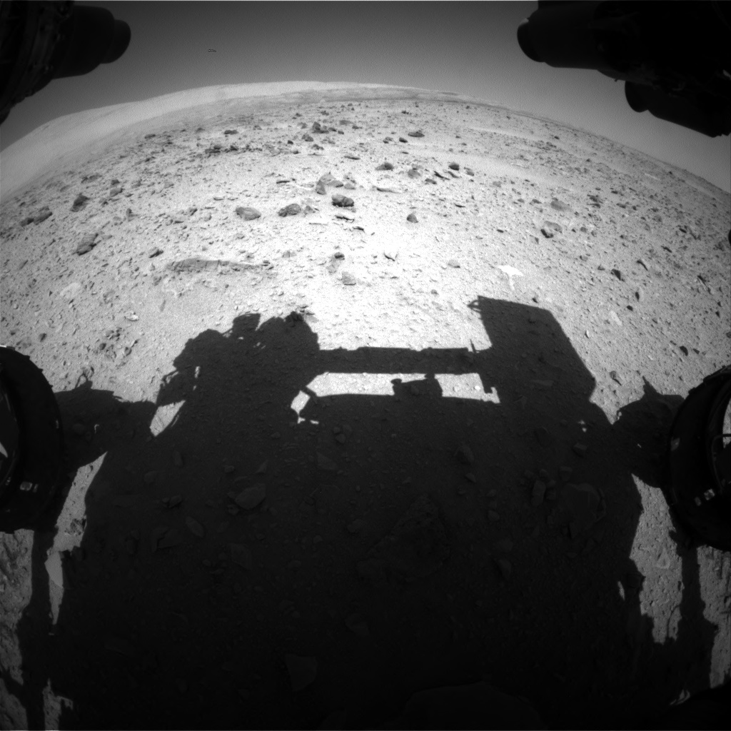 Nasa's Mars rover Curiosity acquired this image using its Front Hazard Avoidance Camera (Front Hazcam) on Sol 511, at drive 414, site number 25