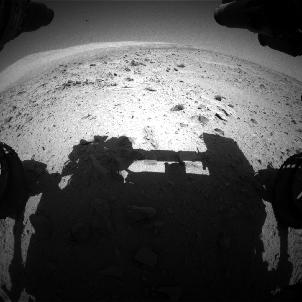 Nasa's Mars rover Curiosity acquired this image using its Front Hazard Avoidance Camera (Front Hazcam) on Sol 511, at drive 426, site number 25
